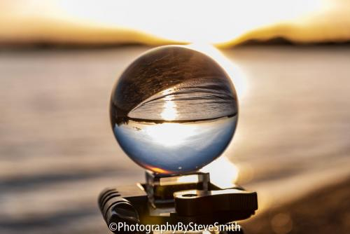 Loch Leven and a lens ball